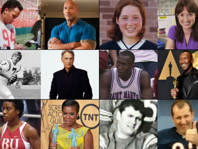 NCAA student-athletes who became actors