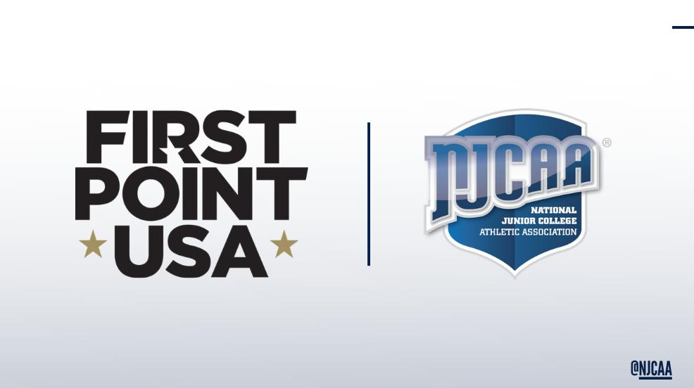 NJCAA and FirstPoint USA logo